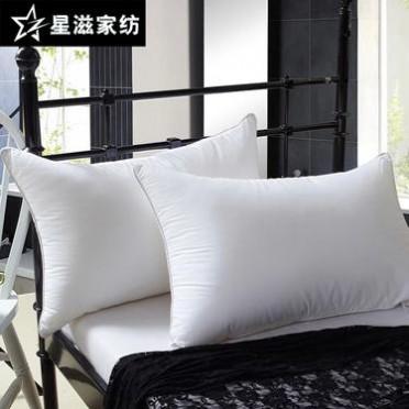 羽絲絨枕芯  酒店枕頭 枕頭芯蠶絲枕 保健枕48*74標準枕芯批發